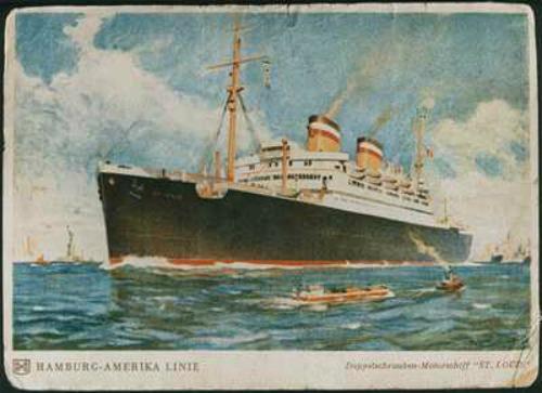 The translantic sailing ship St Louis