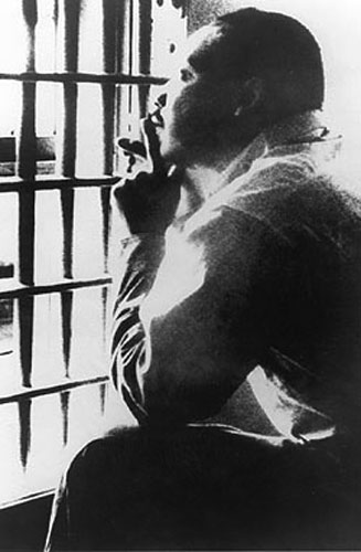 MLK in the Birmingham jail, April 1963