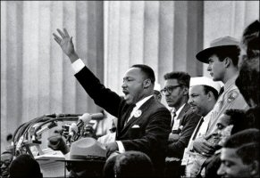 Martin Luther King gesturing