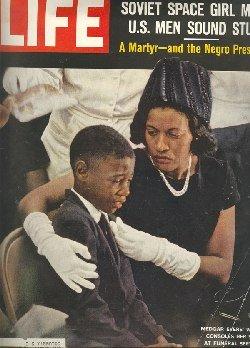 Myrlie and her son at Medgar's funeral